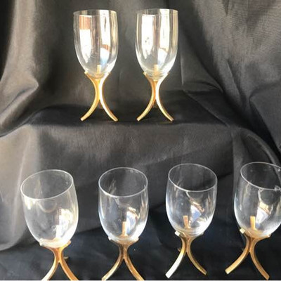 6 Fostoria Wine Glasses