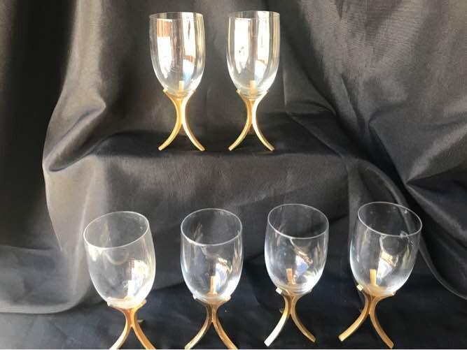 6 Fostoria Wine Glasses