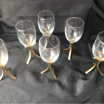 6 Fostoria Vintage Wine Glasses