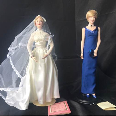 Franklin Mint Princess Diana and Princess Grace