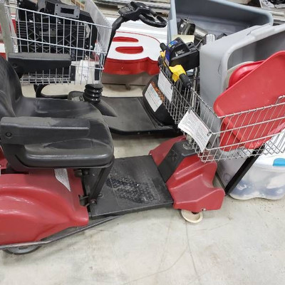 Battery operated shopping cart