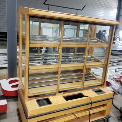 Donut display bakery cabinet