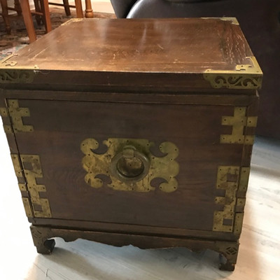 Korean box with drawer table $59 18 X 18 X18