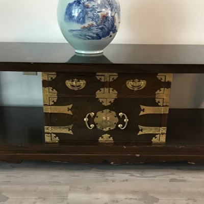 Korean table and cabinet $175 55 X 20 X19