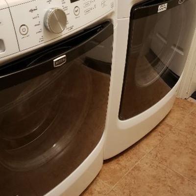 SOLD.  Maytag Maxima X Steam Washer/dryer set