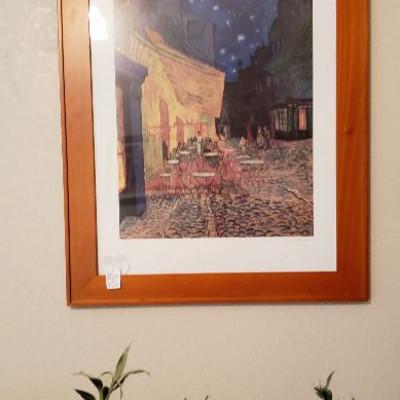 Art print: Cafe Terrace at Night, Vincent Van Gogh