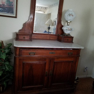 Antique Victorian Dresser with marble top and several drawers. $400 or bet offer.