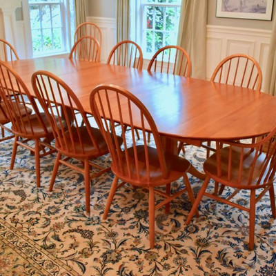 Grace Lee maple dining table and 12 chairs