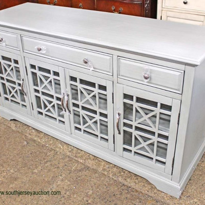 NEW Contemporary 4 Door 3 Drawer Decorative Buffet  Auction Estimate $200-$400 – Located Inside