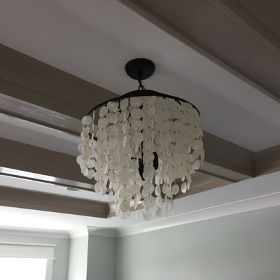Mother of pearl style glass chandelier $165