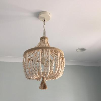 Wooden bead chandelier $139