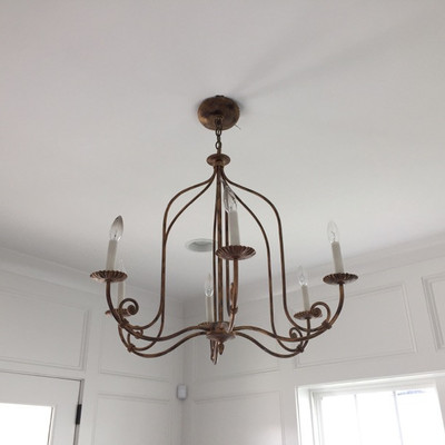 Curry and Company metal chandelier $249