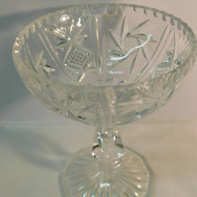 Cut Glass Candy Dishes (2 ea)