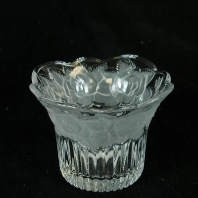 Frosted Glass Serving Bowl