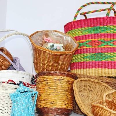Beautiful woven bag and basket variety