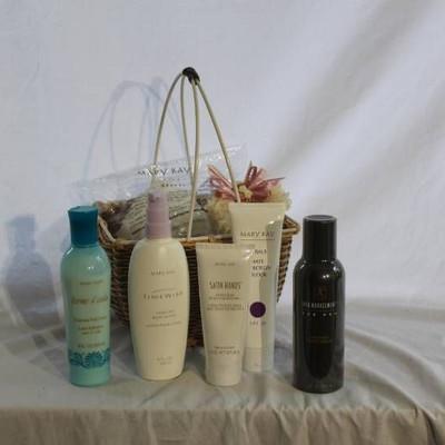 Basket full of Mary Kay Items