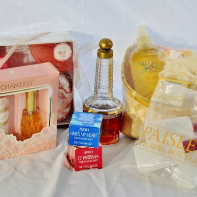 Chantilly Perfume Set, Vintage Chantilly bottle, N ...