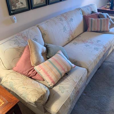 Very Clean sofa with slightly curved back
