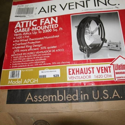 Air Vent Attic Fan