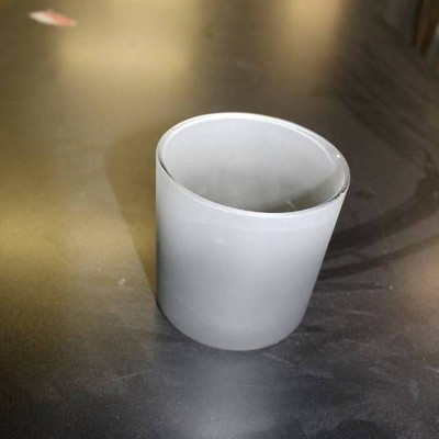 Frosted Cylinder Glass Vase Votive Candle Holder, ...