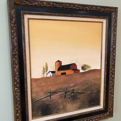 This sale has a large selection of wall art - several sofa-size paintings.