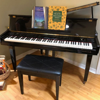 Samick High Gloss Evony 4.5' Baby Grand SGP151P - PLUS a selection of sheet music and music books