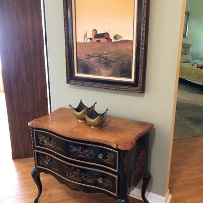 Drexel Heritage Oriental Painted Wood Petit Sideboard- $375 (34W 18D 28H)