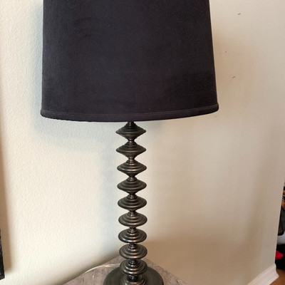 Pair of lamps w/black shades