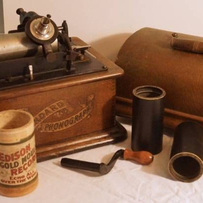 Edison Standard Cylinder Phonograph - w music cyl ...