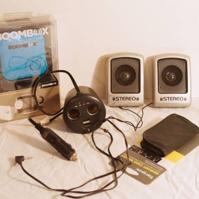 Boombox-new in box !-Turn virtually anything into ...