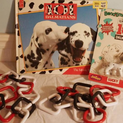 101 Dalmatians Book and Puppy-new in package-Red, ...