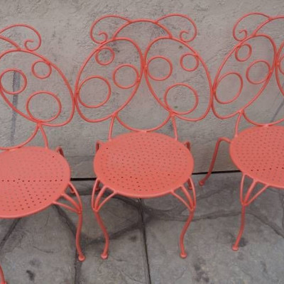 Cute Metal Labybug chairs for Kids-nice condition- ...