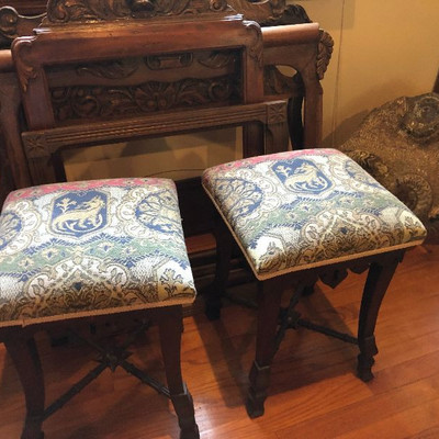 CH010: Medieval Wooden Stools (2) Local Pickup https://www.ebay.com/itm/113804092743