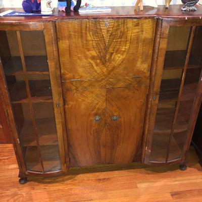 CH012: Deco Tiger Oak Secretary Vanity Display Cabinet Local Pickup https://www.ebay.com/itm/123821407817