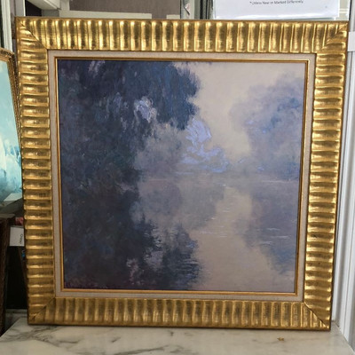 CH096: 'The Seine at Giverny Morning Mists' by Claude Monet Painting framed gicl https://www.ebay.com/itm/123821550000