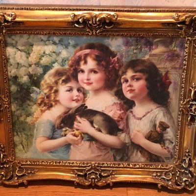 CH091: The Three Graces Emile Vernon Oil on Cavas Framed Local Pickup https://www.ebay.com/itm/113804166049