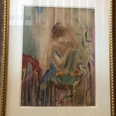 CH082: ECOLE DE BALLET III BY JANET TREBY framed serigraph 300/385 Local Pickup  https://www.ebay.com/itm/113804166053