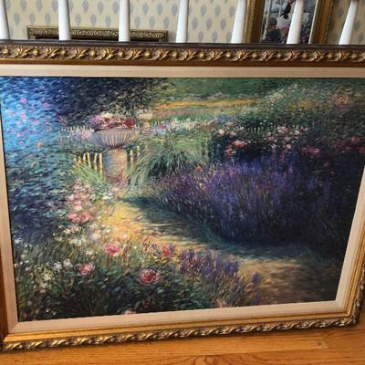 CH073: Garden Pathway framed giclee oil on canvas Local Pickup https://www.ebay.com/itm/123821550019
