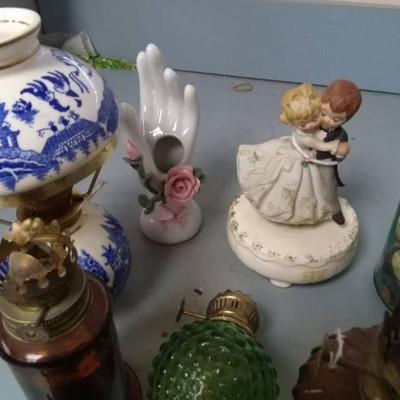 Mini Oil Lamps and Parts, Buttons in Jar and MORE..