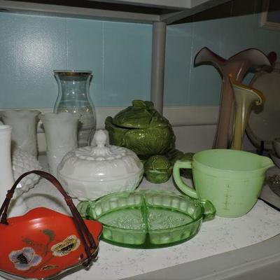 vintage porcelain and glassware