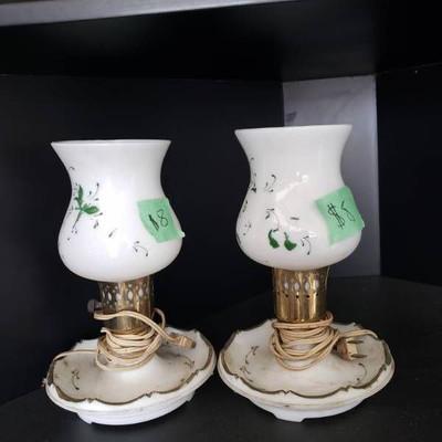 Antique Pair of Lamps