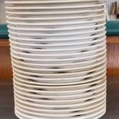 27 Melamine divided plates