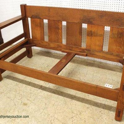 """ANTIQUE """"Lifetime"""" Mission Oak Sofa  Auction Estimate $400-$800 – Located Inside"""