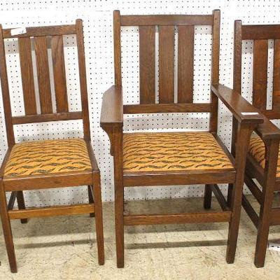 """Set of """"4"""" ANTIQUE """"Stickley Furniture"""" Mission Oak Dining Room Chairs  Auction Estimate $200-$400 – Located Inside"""