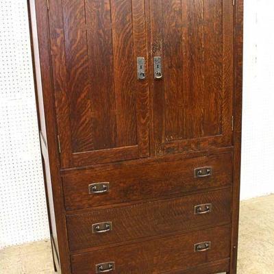 "Mission Oak ""Stickley Furniture"" Gentlemen Chest in Original Finish  Auction Estimate $400-$800 – Located Inside"