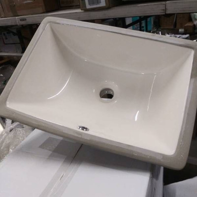 Brand New In Box Biscuit Colored Sinks..