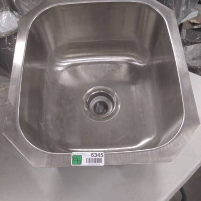 16 in x18 in x 9 in D Stainless Steel Sink.