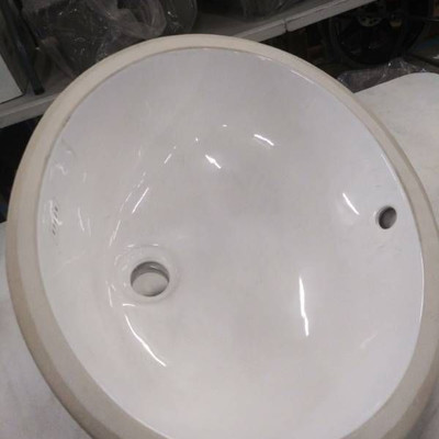 Ryker Egg Shaped Undermount White Sink...