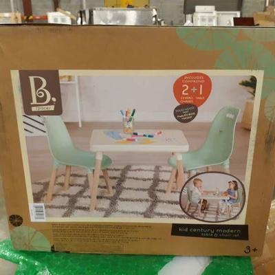 B. Kid Century Modern, Mint Table & Chair Set by B ...