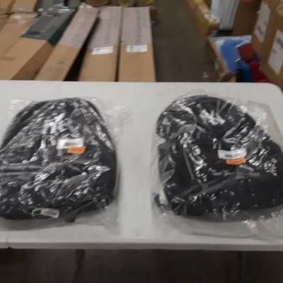 2 Black Yankees Backpacks